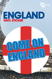 England - Come On Vinyl Sticker Stickers