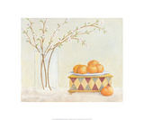 Apple Blossoms And Clementines Prints by Elizabeth Allen