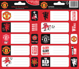 Manchester United Sticker Name Labels Stickers