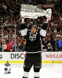 Dustin Brown with the Stanley Cup Trophy after Winning Game 6 of the 2012 Stanley Cup Finals Photographie