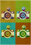 Camera Vintage Style Pop Art Poster Posters