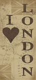 I Love London Print by Jo Moulton