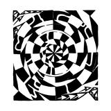 A Strange Swirly Maze Spin Print by Yonatan Frimer
