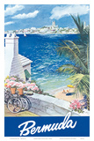 Bermuda Travel Poster c.1950s Prints by Lesnon