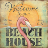 Welcome To Our Beach House Print by Kim Lewis