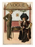 Vogue Cover - December 1909 Regular Giclee Print by Will Foster
