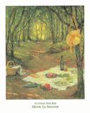 Le Gouter Sous Bois Poster by Henri LeSidaner