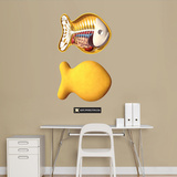 Gold Fishy Wall Decal by Jason Freeny