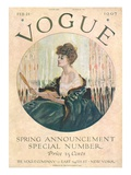 Vogue Cover - February 1907 Regular Giclee Print