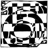 Number Five 5 Maze Posters par Yonatan Frimer