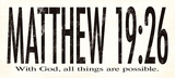 Matthew 19:26 Kunstdruck von Stephanie Marrott
