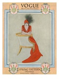 Vogue Cover - March 1912 Regular Giclee Print by Arthur Finley