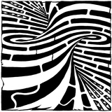 Super Tornado Spiral Close Up Maze Print by Yonatan Frimer