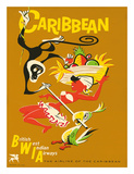 BWIA Caribbean, Limbo c.1950s Giclee Print