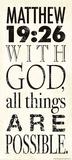 Matthew 19:26 Kunst von Stephanie Marrott