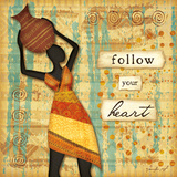 Follow Your Heart Art by Jennifer Pugh