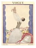 Vogue Cover - January 1922 Premium Giclee Print by Georges Lepape