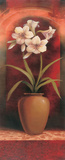 Potted Orchid White Prints by Tan Chun