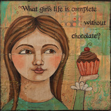 Chocolate Print by Teresa Kogut