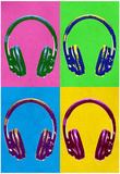 Headphones Pop Art Poster Prints