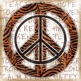 Peace Tiger Art by Jennifer Pugh