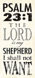 Psalm 23:1 Poster von Stephanie Marrott