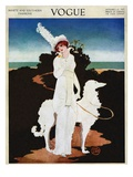 Vogue Cover - January 1913 Regular Giclee Print by Mrs. Newell Tilton