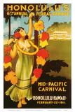 Mid Pacific Carnival, 6th Floral Parade c.1911 Prints