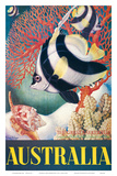 Australia, Great Barrier Reef c.1956 Poster by Eileen Mayo