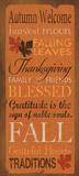 Herbstlicher Willkommensgruß Poster von Stephanie Marrott