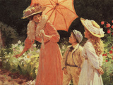 A Lady With Parasol Posters by Percy Tarrant