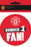 Manchester United - No 1 Fan Vinyl Stickers Stickers