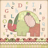 Alphabet Elephant Poster by Jo Moulton
