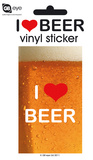 I Love Beer Vinyl Sticker Klistermærker
