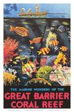 Great Barrier Coral Reef c.1933 Poster af Frederick Phillips