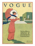 Vogue Cover - April 1912 Regular Giclee Print by Helen Dryden