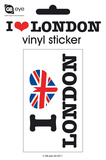 I Love London Vinyl Stickers Adesivos