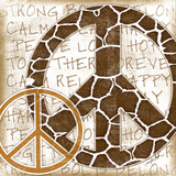 Peace Giraffe Posters by Jennifer Pugh