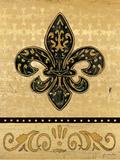 Golden Fleur De Lis II Poster by Jo Moulton