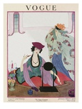 Vogue Cover - January 1920 Regular Giclee Print by Helen Dryden
