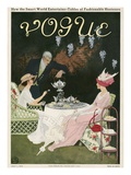 Vogue Cover - July 1911 Premium Giclee Print by Mrs. Newell Tilton