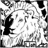 L is for Lion Print by Yonatan Frimer