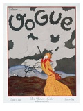 Vogue Cover - October 1924 Premium Giclee Print by Georges Lepape