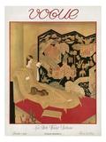 Vogue Cover - November 1923 Giclée-tryk af Eduard Buk Ulreich