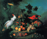Fruit And Birds Prints by Jakob Bogdany