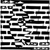 Saxophone Lady Optical Illusion Maze Prints by Yonatan Frimer