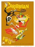 BWIA Caribbean, Limbo c.1950s Poster