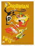 BWIA Caribbean, Limbo c.1950s Prints