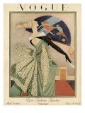 Vogue Cover - April 1923 Gicléedruk van George Wolfe Plank