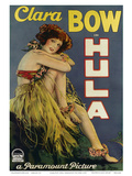 Clara Bow Hula, Paramount Picture c.1927 Plakater
